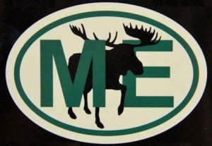 Maine Moose Decal