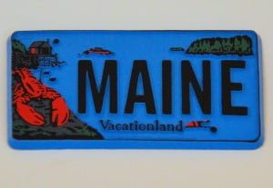 Maine Refrigerator Magnet – License Plate