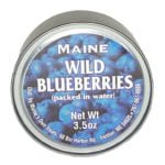Wild Maine Blueberries in Can