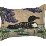 Maine Balsam Fir Loon Pillow – 3×5″