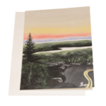 Cadillac Sunset Maine Greeting Card