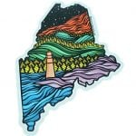 Artistic Maine State Decal
