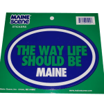 Maine Decal – They Way Life Should Be