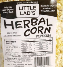 Order A Box Of Little Lad's Herbal Popcorn