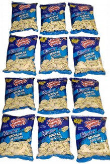 Limited Box of Humpty Dumpty Ripple Chips (12-1oz snack bags)