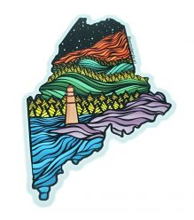 State of Maine Artistic Vinyl Decal